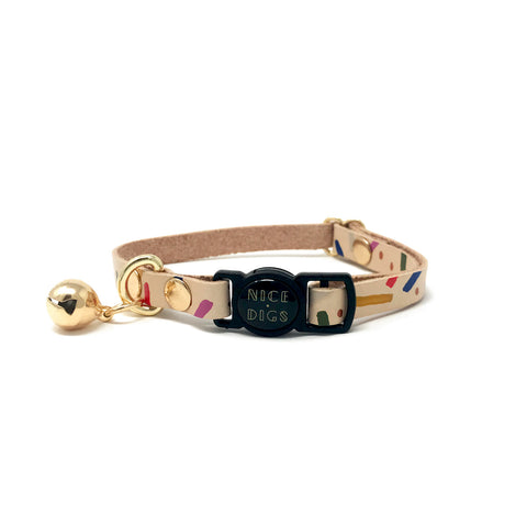 Nice Digs - Jungle Confetti Cat Collar - Multi