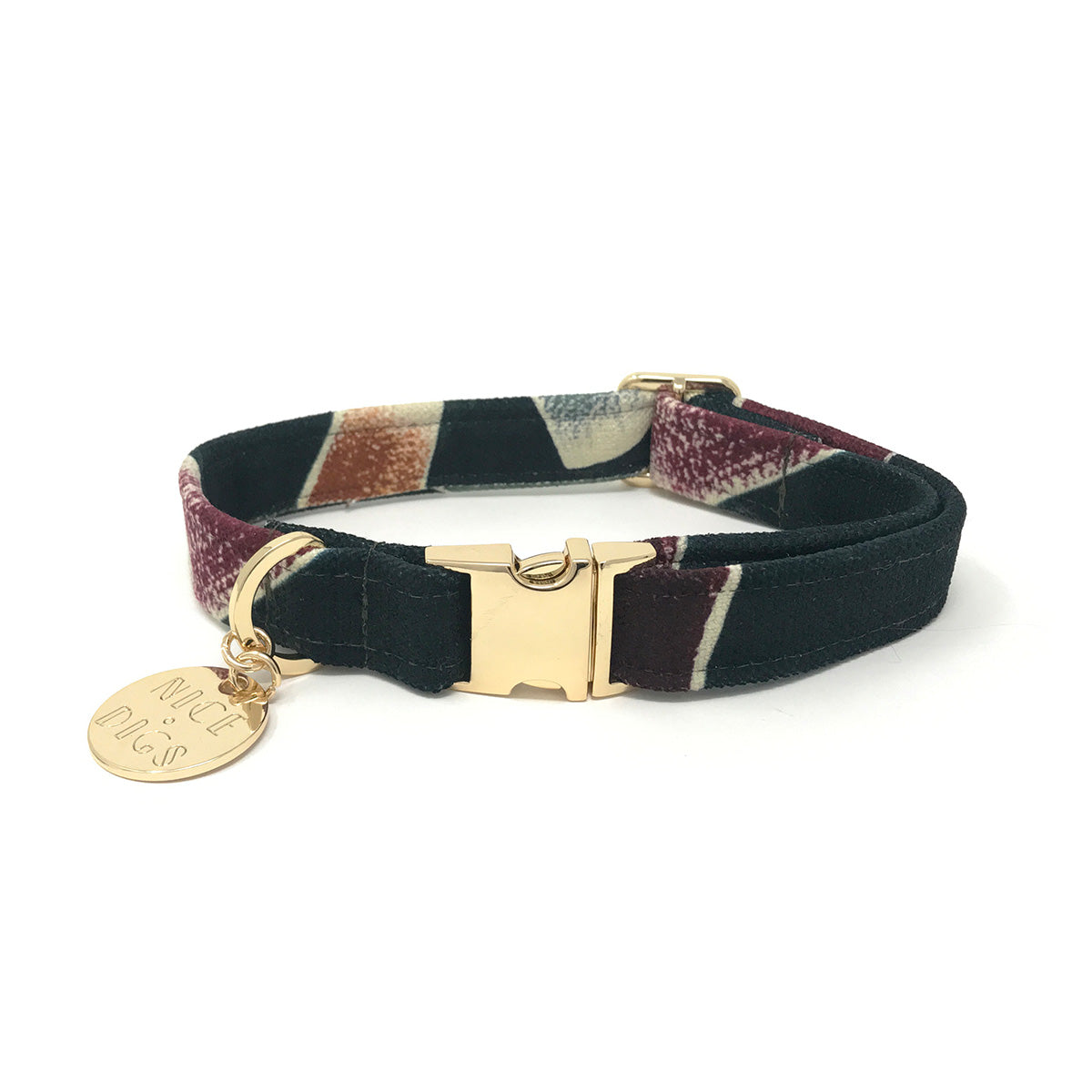 Nice Digs - Low Key Printed Dog Collar - Multi