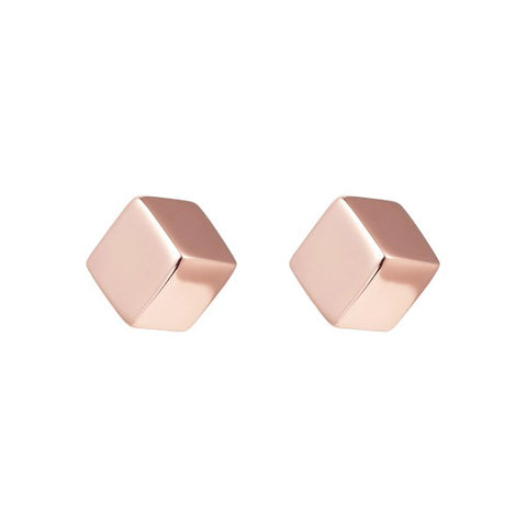Najo E5168 Cutie Cube Rose Stud Earrings