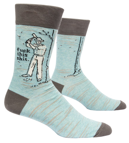 Blue Q - Men's Socks - Fuck this Shit