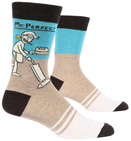 Blue Q - Men's Socks - Mr Perfect