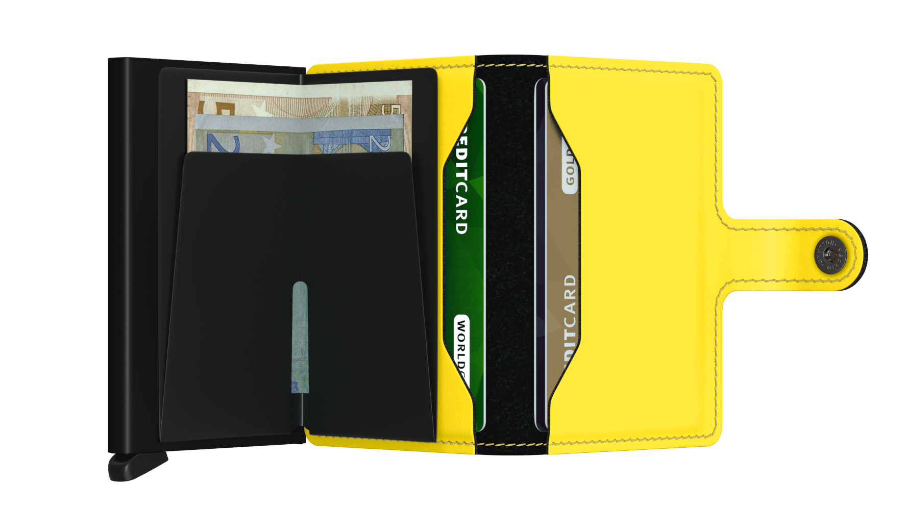 Secrid - Mini Wallet - Matte Black & Yellow