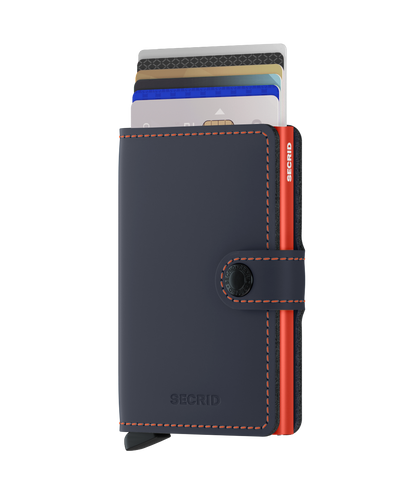 Secrid - Mini Wallet - Matte Night Blue & Orange