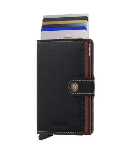 Secrid - Mini Wallet - Saffiano Brown