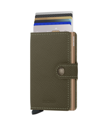 Secrid - Mini Wallet - Saffiano Olive