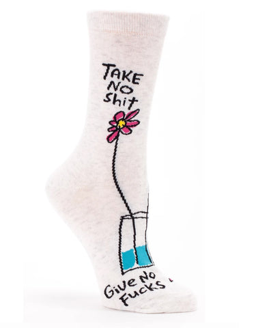Blue Q - Crew Socks - Take No Shit