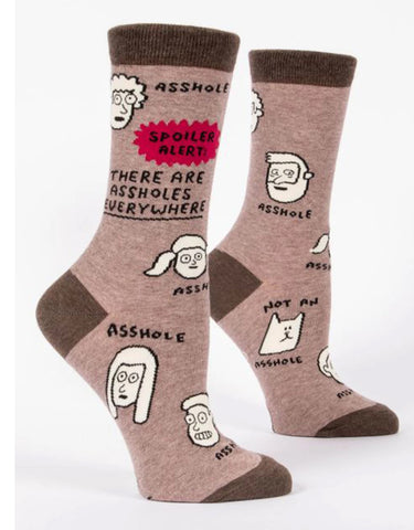 Blue Q - Men's Socks - Assholes Everywhere
