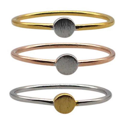 Ring Mints - Two Tone Circle Disc Ring - One Size