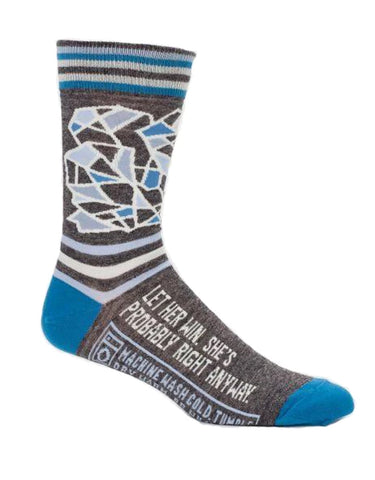 Blue Q - Men's Socks - Let Her Win