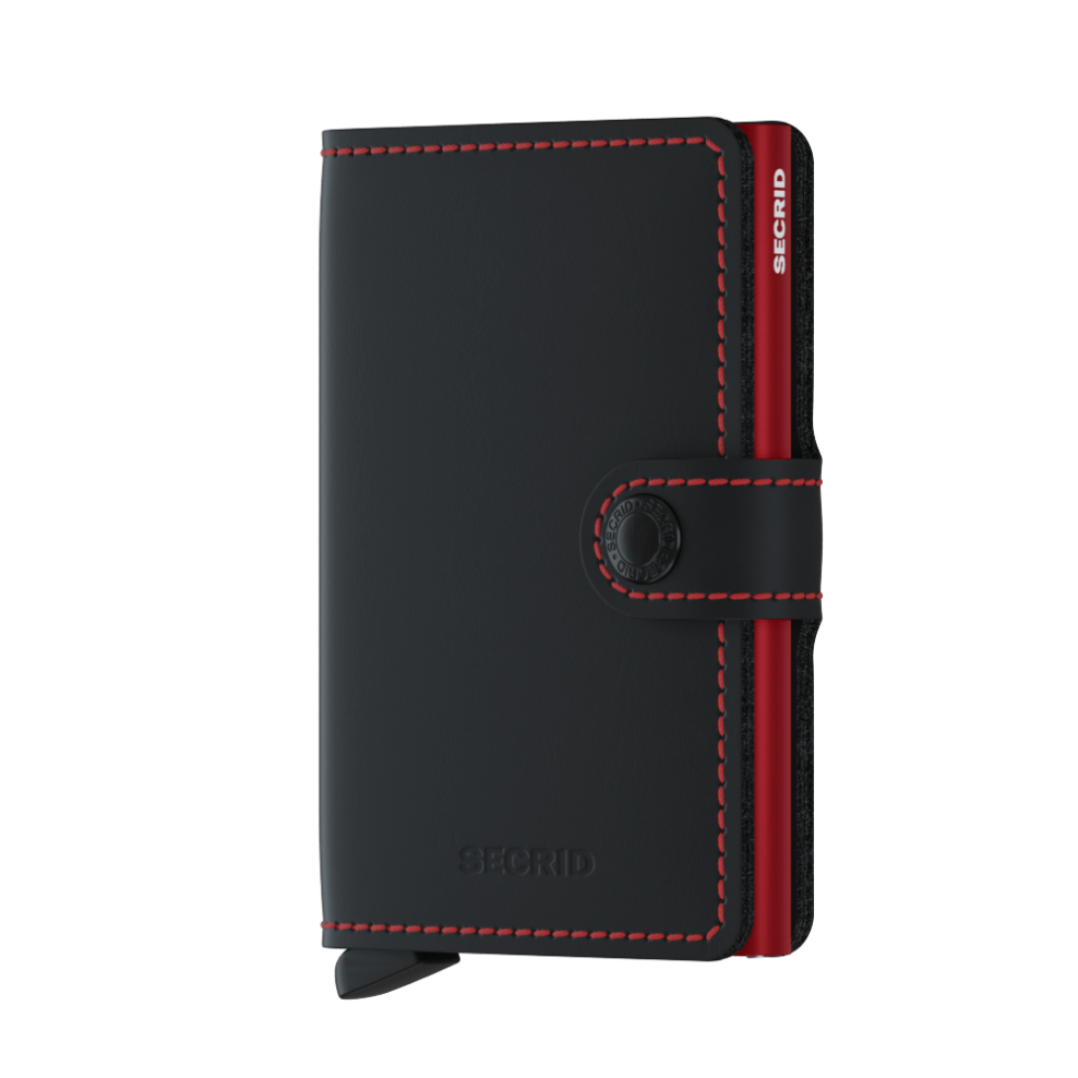 Secrid - Mini Wallet - Matte Black & Red *NEW*