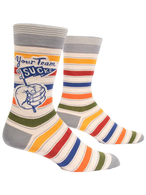 Blue Q - Men's Socks - Your Team Sucks