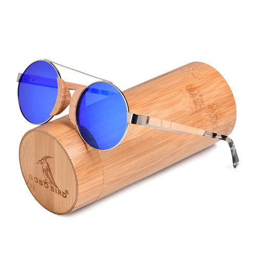 Sunglasses made of Wood and Stainless Steel, includes a wooden box as a gift