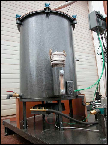 "The Retort or ""tub"" for the 35 gallon stainless steel distiller"