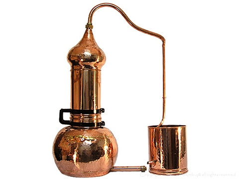 Rotating column copper alembic distiller