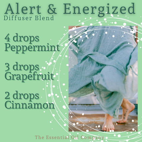 Alert and Energized Diffuser Blend