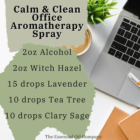 calm and clean office essential oils blend
