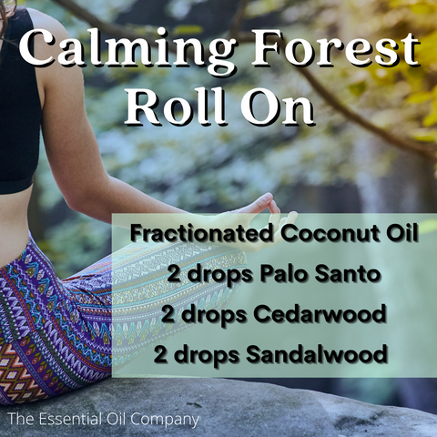 calming forest essential oil diffuser blend