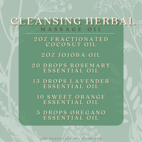 Cleansing Herbal Massage Oil