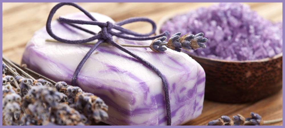 Lavender Swirl Melt and Pour Soap