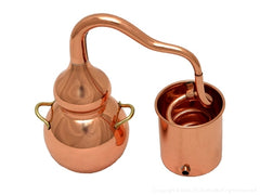 miniature copper display alembic
