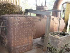 Boiler at Eucalyptus distillery