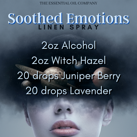 soothed emotion linen spray essential oils