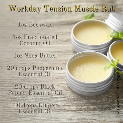 tension muscle rub essential oils