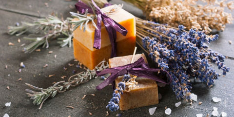soap and lavender and salt