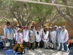 study tour participants on the island of Syros