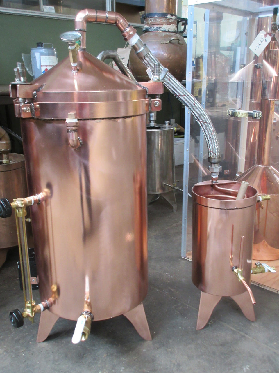 15 Gallon Copper Distiller With Essencier#distillation #copper #alembic #distiller #essentialoil #hydrosol