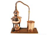 0.7 Liter Miniature Alembic Pot Still With Alcohol Burner