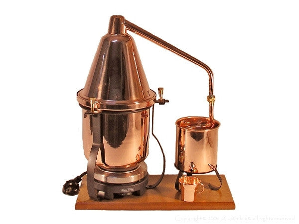 2.5 Liter Distiller With Herb Sieve #distillation #copper #alembic #distiller #essential oil#hydrosol