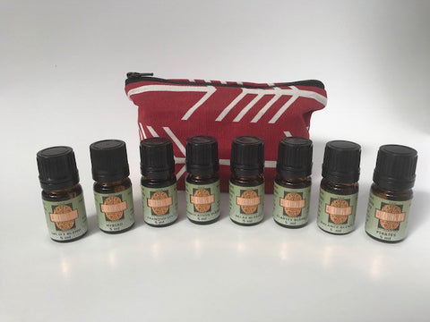 Small Essential Oil Blends Kit (Red) 8 - 5ml Bottles -SALE-