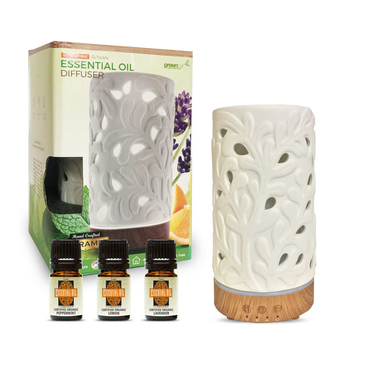 Organic Essential Oil Diffuser Set Leaf Ceramic