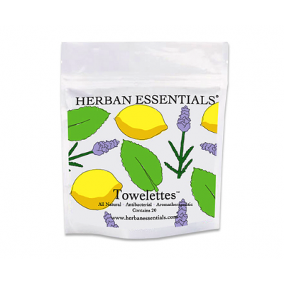 Mixed Bag Essential Oil Towelettes - Lavender, Peppermint & Lemon