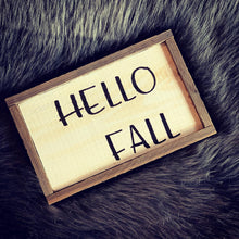 Load image into Gallery viewer, Hello Fall Wooden Sign