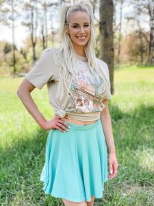 Young Love Skirt - Seafoam