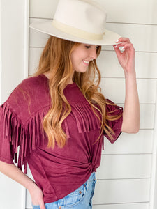Cross My Heart Fringe Tee