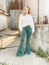 Load image into Gallery viewer, Boho Mama Flares - Corduroy - Hunter