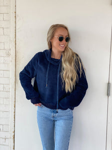 Purrfect Teddy Sherpa - Navy