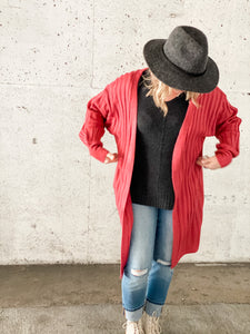 Easy Like Sunday Morning Cardi - Rose