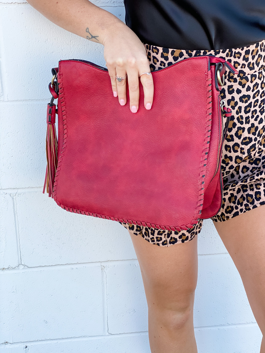 Nina Concealed Carry Tote - Cherry