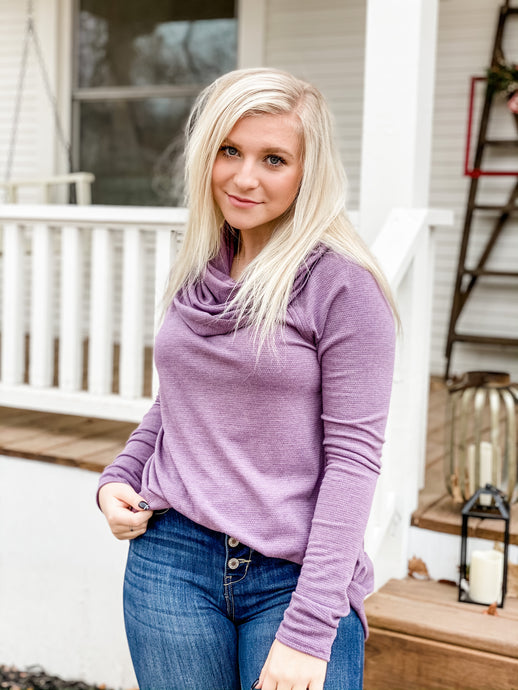 Dahlia Cowlneck - Purple