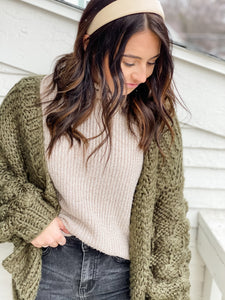 Naturally Yours Sweater - Taupe