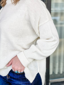 Inside Out Sweater - Ivory