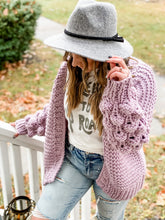 Load image into Gallery viewer, Knobby Cable Cardi - Lilac