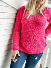 Load image into Gallery viewer, Popcorn Sweater - Hot Pink