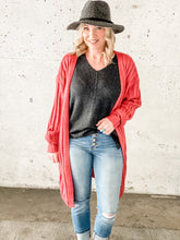 Load image into Gallery viewer, Easy Like Sunday Morning Cardi - Rose