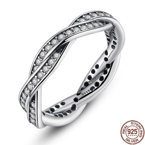 8 STYLE BRAIDED PAVE ,LEAVES My Princess Queen Crown SILVER RING Twist Of Fate Stackable Ring ANNIVERSARY SALE 2018