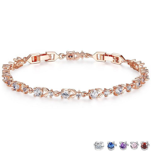 Luxury Rose Gold Color Chain Link Bracelet for Women